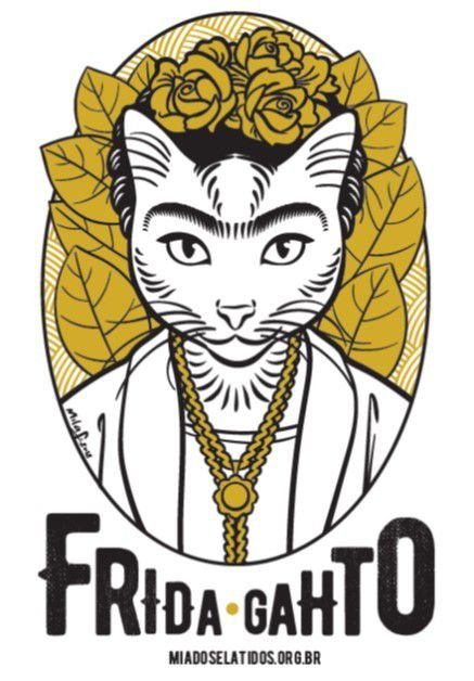 Camiseta Frida Gahto - Feminina