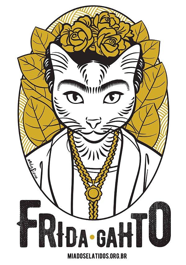 Camiseta Frida Gahto - Tradicional