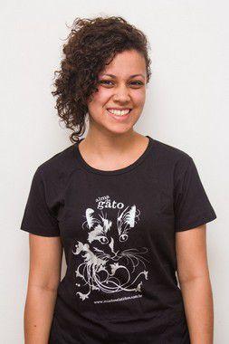 Camiseta Alma de Gato - Baby Look Preta