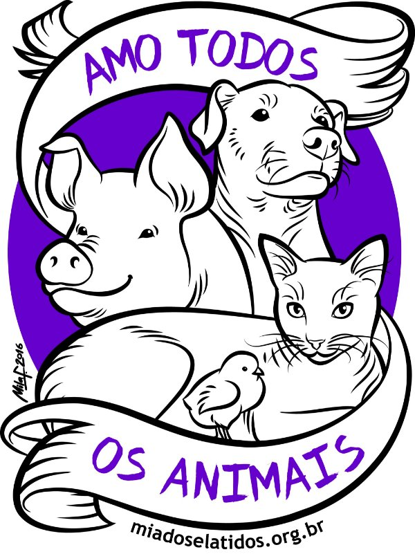 Camiseta Amo Todos os Animais