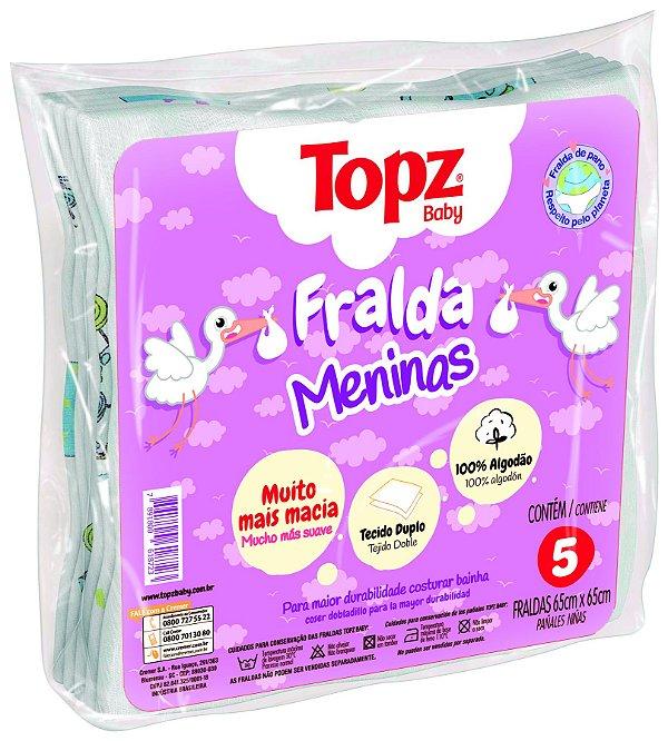 Fralda De Pano Basica Estampa Menina Topz Baby - Cremer