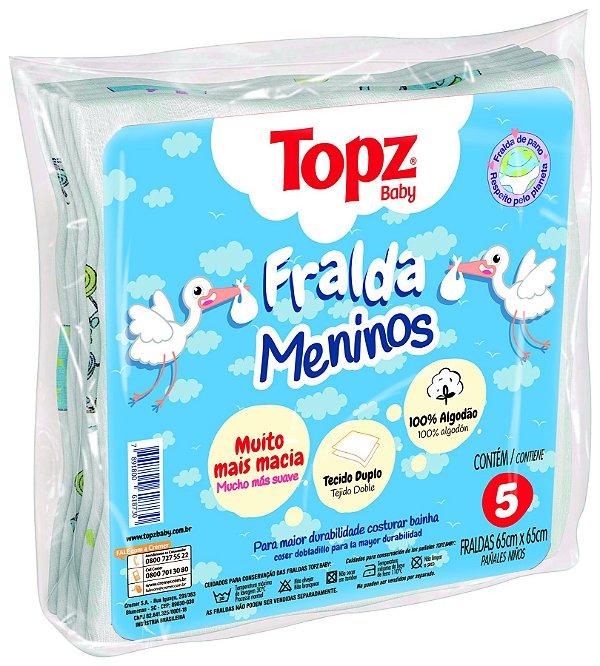 Fralda De Pano Basica Estampa Menino Topz Baby - Cremer