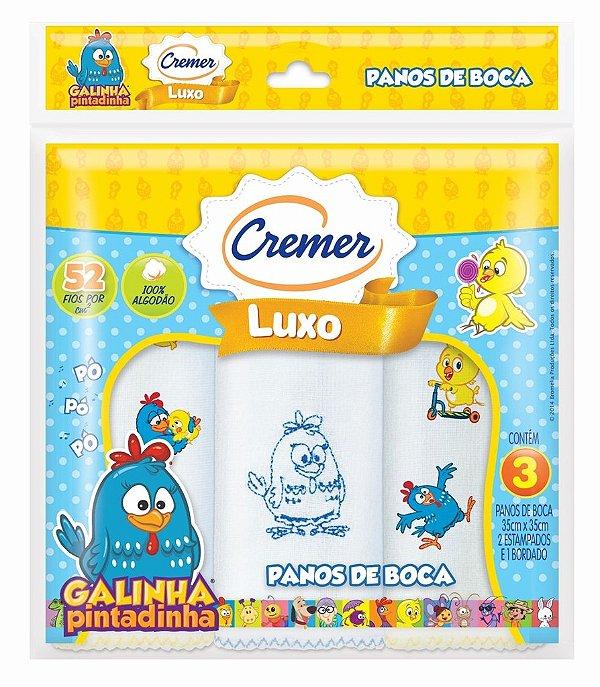 65e1bbb5b68e71 Pano de Boca Galinha Pintadinha - Cremer C/ 3 Unid.