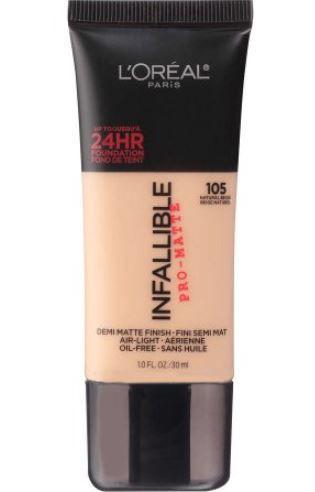 Base Demi Matte Finish Infallibre pro Matte - Natural Bege 105