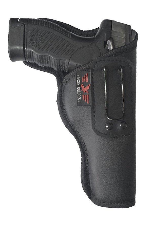 Coldre Velado Para Pistola PT100, 24/7 PRO TATICAL em Neoprene e Couro P.U