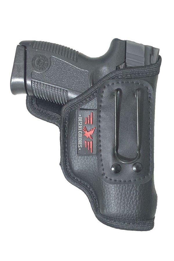 Coldre Velado para Pistola PT609/638/640/145 em Neoprene e Couro P.U