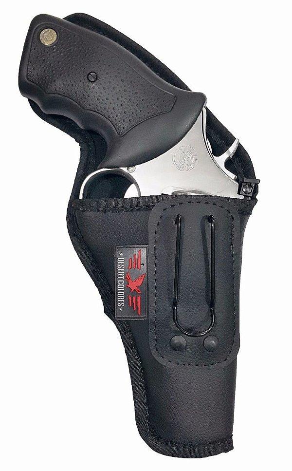 Coldre Para Revolver 38 4 Polegadas 6 Tiros Em Neoprene E Couro P.u (Paisana)