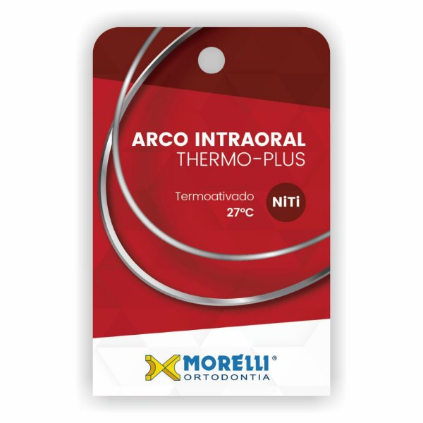 Arco Intraoral Thermo-Plus Médio NiTi Quadrado Morelli