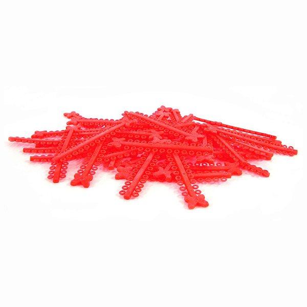 Elástico Ligadura Modular Vermelho Cristal