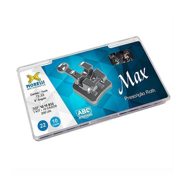 """Kit de Bráquetes Prescrição Roth - Max .022"""" - 10 Casos - Can. 9° Ang. Morelli"""