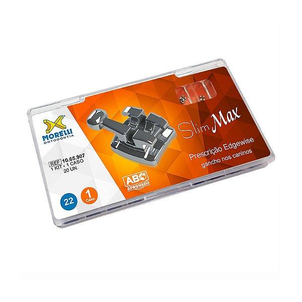 """Kit de Bráquetes Prescrição Edgewise - Slim Max .022"""" - Gancho Can. Morelli"""