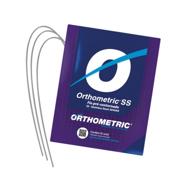 Arco Intraoral Superior Aço CrNi Redondo Orthometric