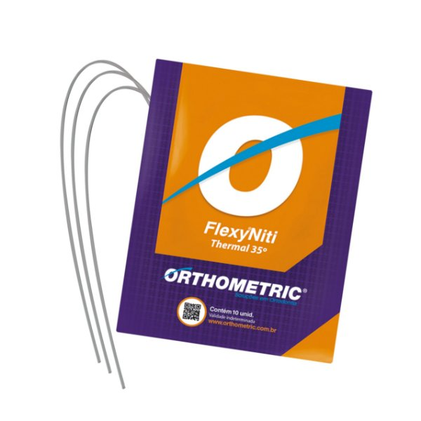 Arco Termoativado Flexy NiTi Thermal 35° Quadrado Superior Orthometric