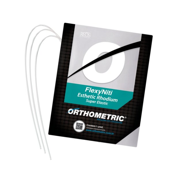 Arco Flexy Niti Esthetic Rhodium Inferior Quadrado Orthometric