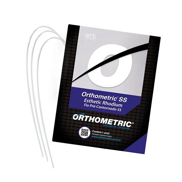 Arco de Aço Estético SS Rhodium Superior Retangular Orthometric