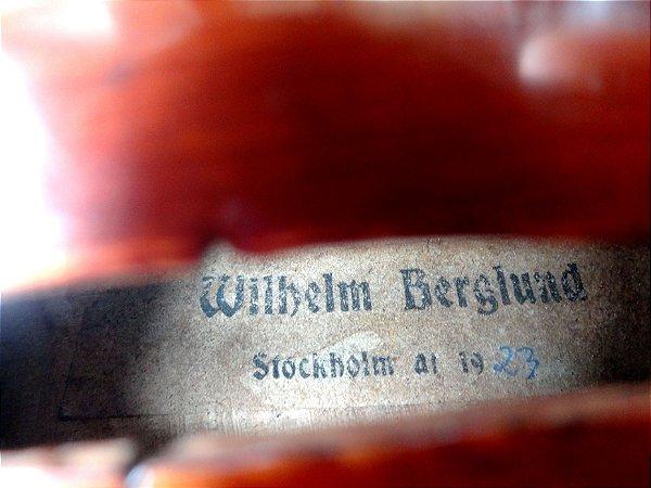 WILHELM BERGLUND ANO 1923 - VIOLINO DE AUTOR SÉC. 20