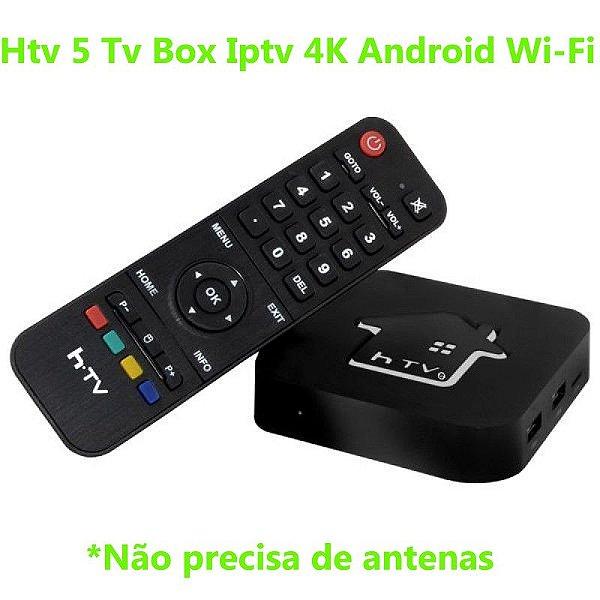 Htv 5 Tv Box Iptv 4K Android Wi-Fi
