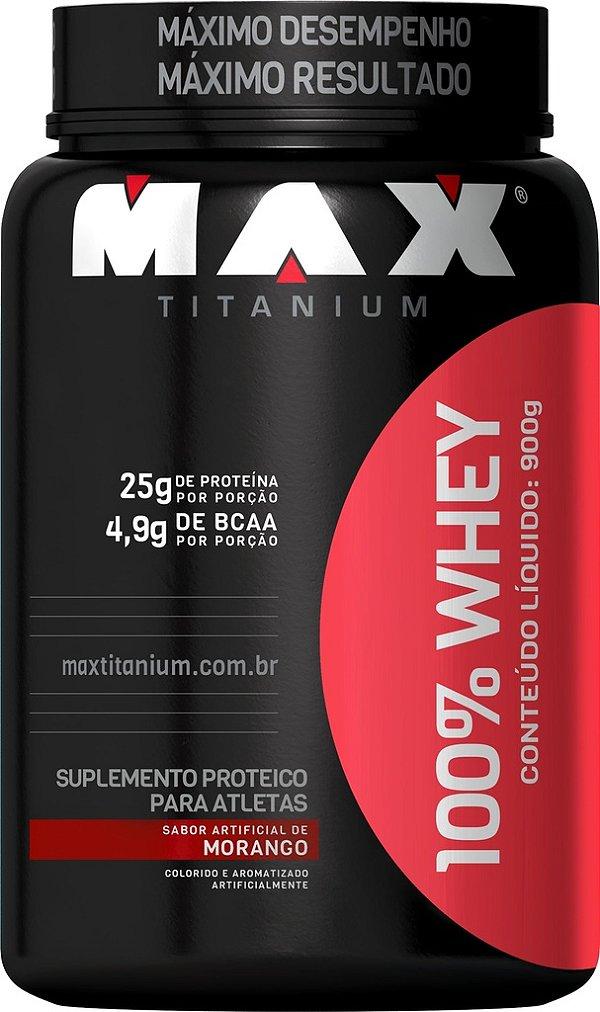 WHEY 900G (POTE) MAX TITANIUM - MORANGO