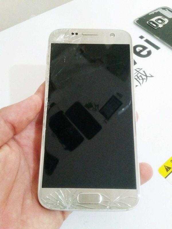 Troca de Vidro Samsung Galaxy S7 G930 G930F Flat