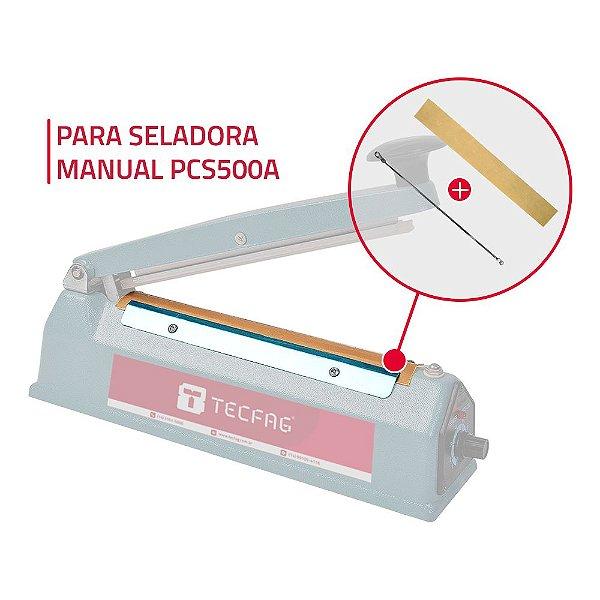 2 Fitas Teflon + 2 Resistências para Seladora Manual PCS500A