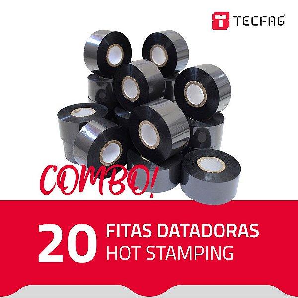 Fita Datadora Hot Stamping HS30 30 mm x 120 m (20 unidades) - Preto