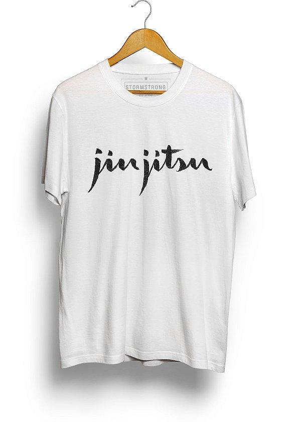 Camiseta HM Assinatura Jiu-Jitsu Branca