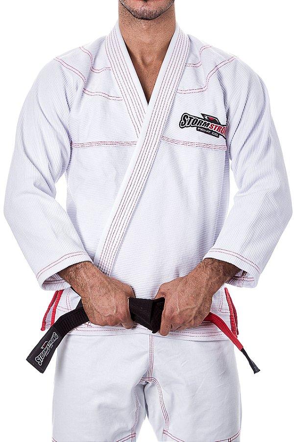Kimono STORMSTRONG Jiu-Jitsu Red Line Branco
