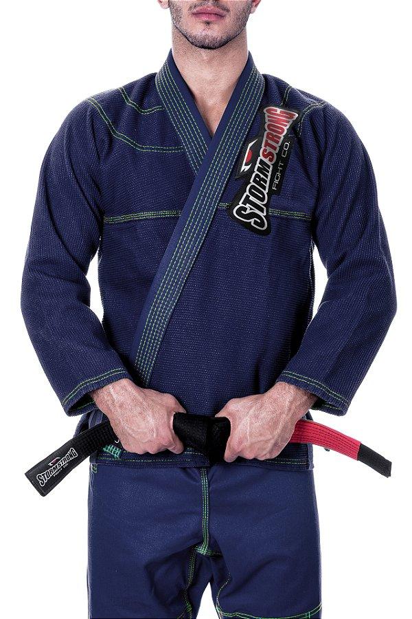 Kimono STORMSTRONG Jiu-Jitsu Neon Azul Marinho