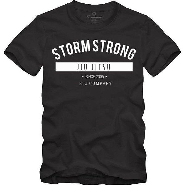 Camiseta StormStrong Jiu-Jitsu BJJ Co Preta