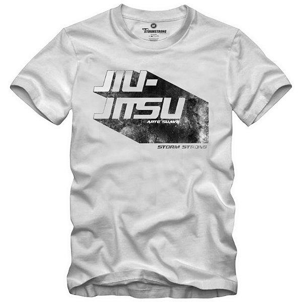 Camiseta StormStrong Jiu-Jitsu Retro Branca