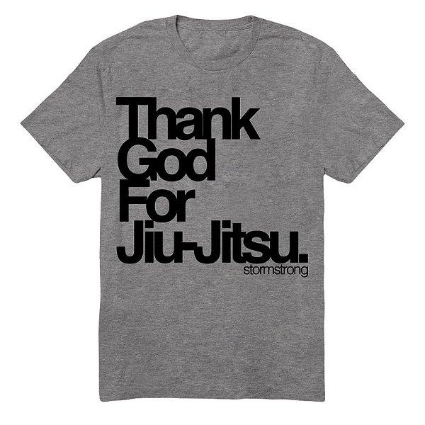 Camiseta Thank God Cinza Mescla