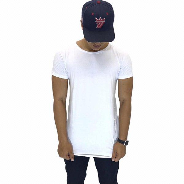 78a1623232 Camiseta Longline Basica Branca - Vestuário e Moda Jeans