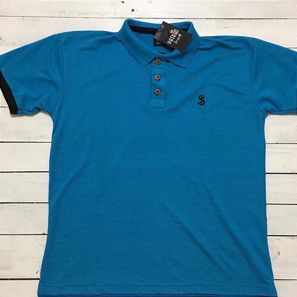 47169bad01 Camiseta Polo Azul Promoção - Vestuário e Moda Jeans