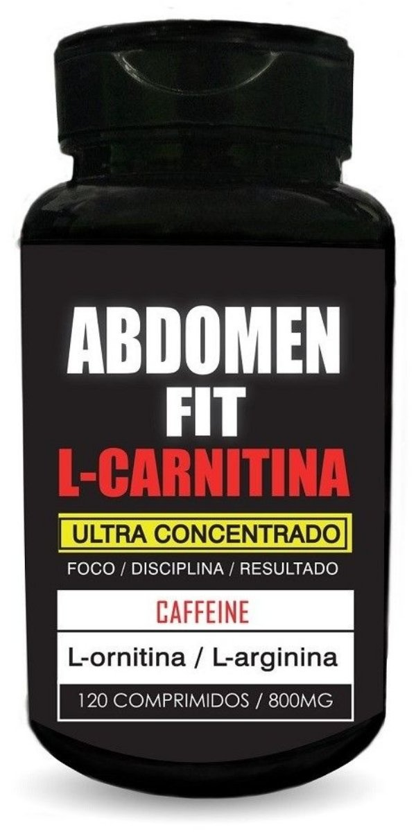 Abdomen Fit L-carnitina - 120 Compr. 800mg - Nutrigold