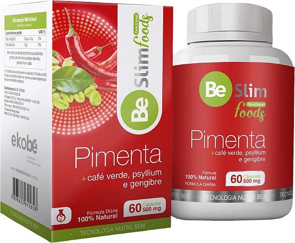 Pimenta, Gengibre, Café Verde e Psyllium Termogênico 60 capsulas