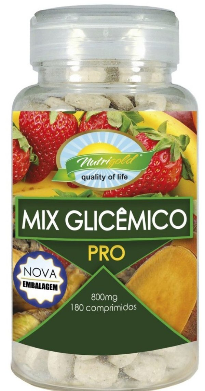 Mix Glicemico Pro Nutrigold 180 Cápsulas