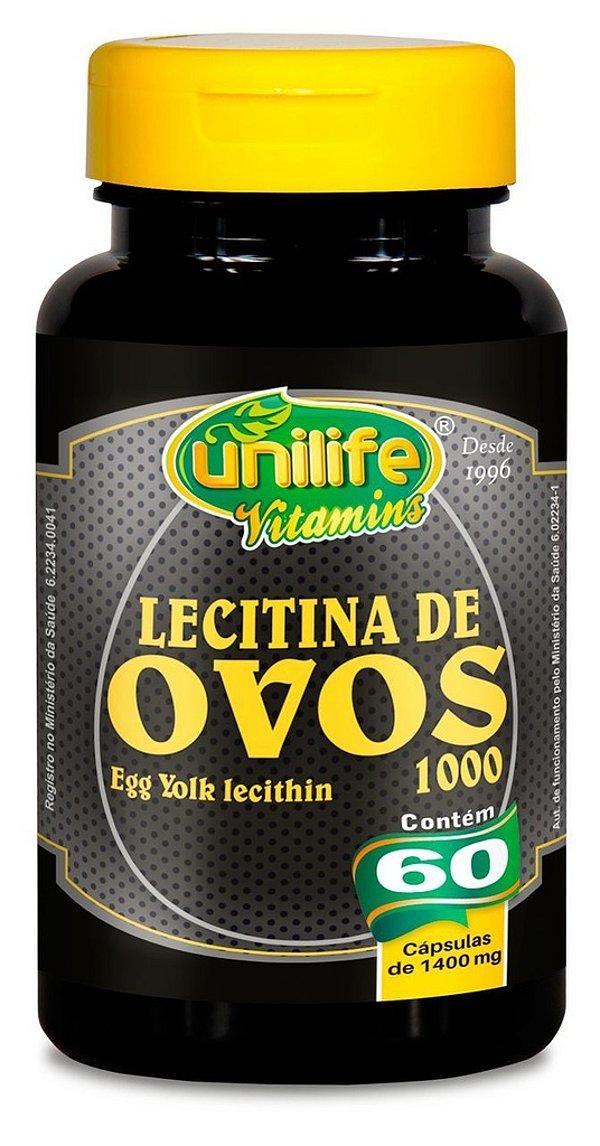 Lecitina de Ovos - 60 Cáps de 1400mg - Unilife