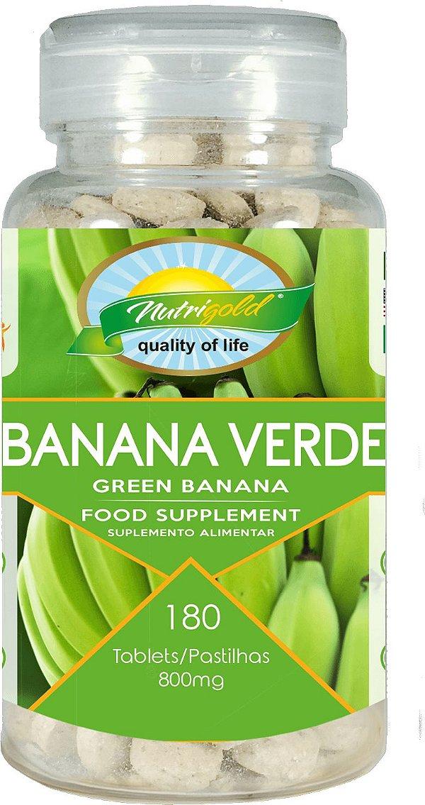 Banana Verde Pro - 180 Unid. Nutrigold (800mg)