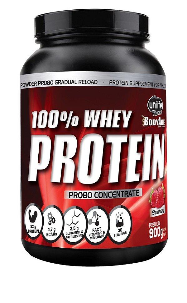 100% Whey Protein Pro 80 Concentrada Especial - Unilife