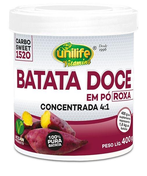Batata Doce Roxa em Pó Concentrada 400g - Unilife