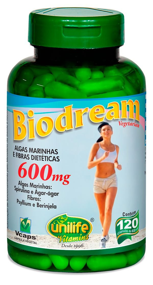 Emagrecedor Biodream 120 Capsulas (600mg) - Unilife