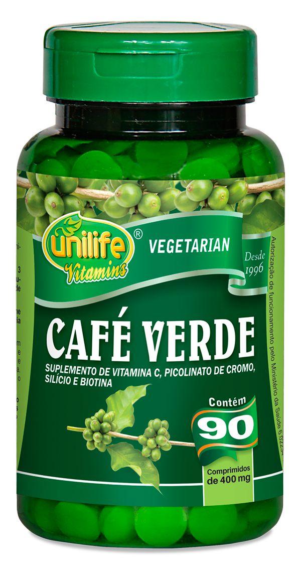 Cafe Verde Unilife 90 Comprimidos 400mg