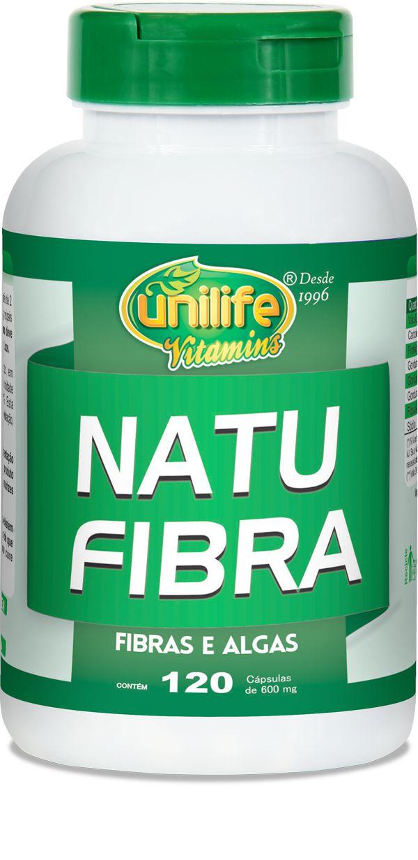 Natu Fibras Emagrecedor com Fibras e Algas 120 Cápsulas (600mg) Unilife