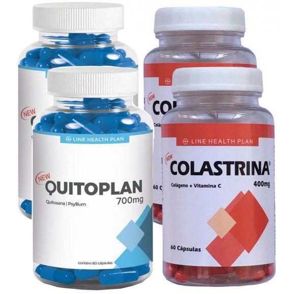 Colágeno Colastrina e Emagrecedor Quitoplan Kit Especial com 4