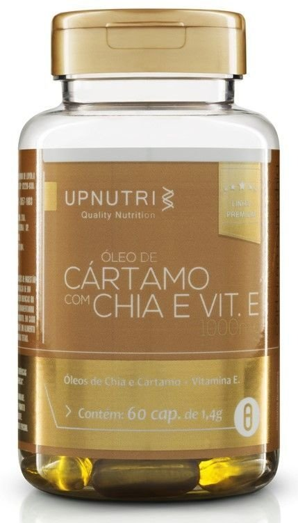 Oleo de Cártamo + Oleo de Chia e Vitamina E (60 cápsulas) - Upnutri