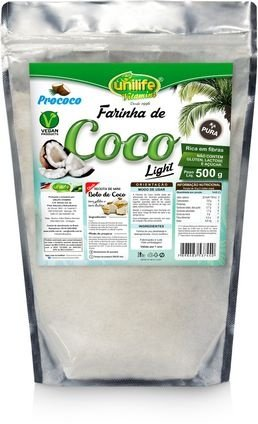 Farinha de Coco Pura Light (500g) - Unilife