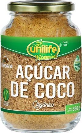 Açucar de Coco Organico Pote (360g) - Unilife
