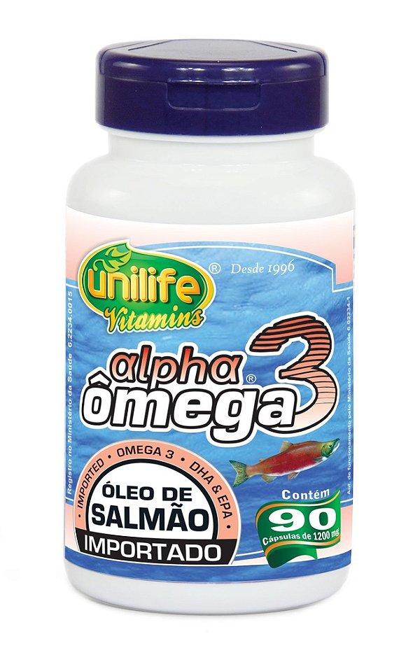 Alpha Omega 3 Oleo de Salmão 90 Capsulas - Unilife
