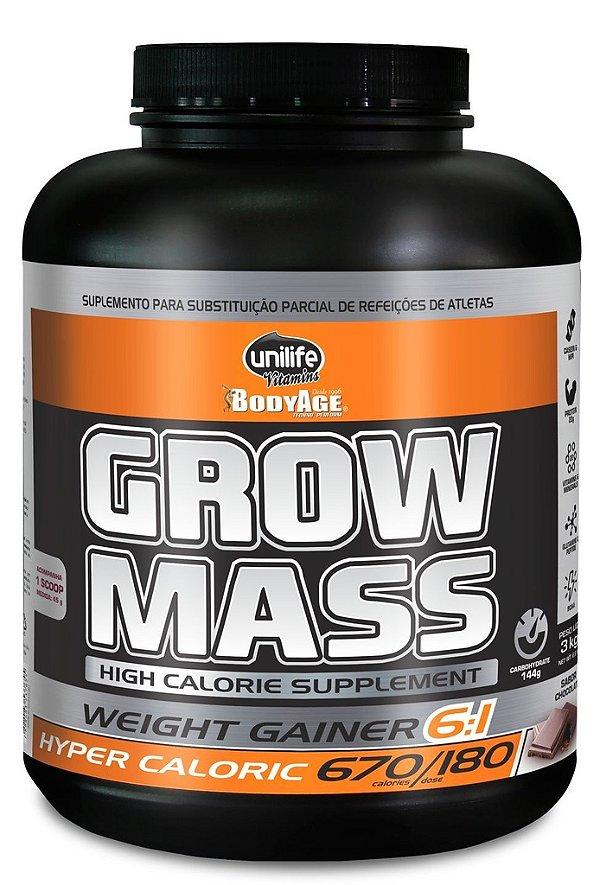 Grow Mass Hipercalórico (3 KG) Chocolate Unilife