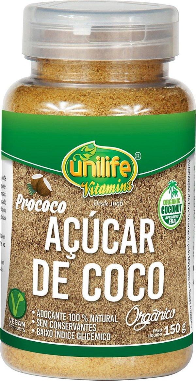 Açucar de Coco Organico em frasco (150g) - Unilife